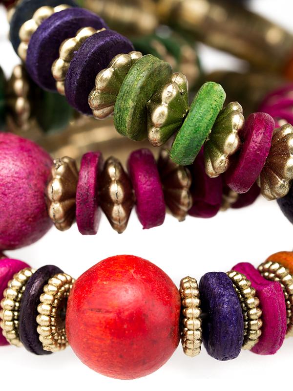 jewelry продуктова снимка на гривна от Бали