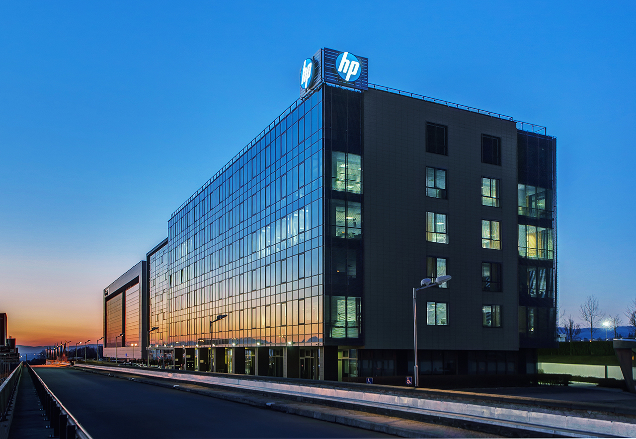 Сграда HP сутрин