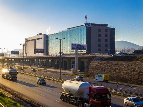 Сграда HP сутрин , трафик