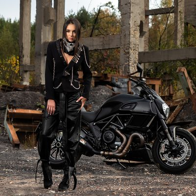 Iva Rusinova motorcycle